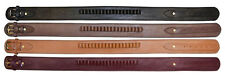 """Holster Belt With .45 Caliber Loops, 2-1/2"""" Wide Ammo Cartridge Leather Western"""