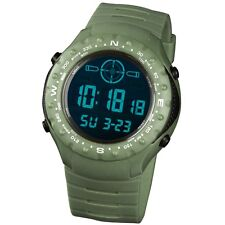 INFANTRY Mens Sport Quartz Army LCD Digital Dial Chronograph Rubber Wrist Watch