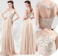 NEW Long Chiffon Evening Formal Bridesmaid Wedding Pageant Gown Prom Party Dress