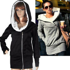 Women Casual Hoodies Jacket Coat Warm Zip Up Outerwear Overcoat Sweatshirt