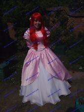 Disney Princess Ariel Dress Costume adult SIZE 6,8,10,12,14,16 Light Pink/ white