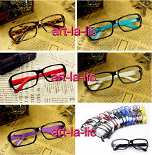 New Unisex Fashion Plastic Frame Glasses Cool Eyeglasses No Lens Y07