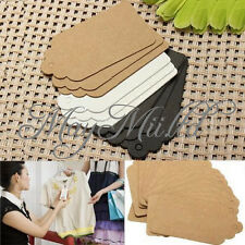 100pcs Kraft Paper Gift Tags Wedding Scallop Label Blank Luggage Card Sales Z