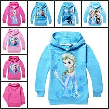 2014 Hot Sale New Girls Elsa Frozen Queen Hoodie Cosplay Costume Outwear Clothes