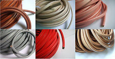 1/5 Yard 10x6mm Spring Genuine Licorice Real Leather Cord Multicolor