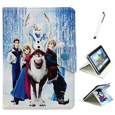 "Cute Frozen image Cartoon Leather Case Cover for 9.7 10 10.1"" inch Tablet PC"