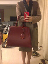Auth Used FENDI 2 JOURS peekaboo by the way RED Karlito Olivia Palermo Kate Moss
