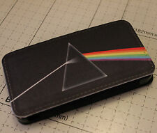 iphone 4 4s  5 5s pink floyd dark side of the moon PU leather flip case cover