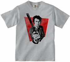 DIRTY HARRY MOVIE T-SHIRT 100% COTTON CLINT EASTWOOD RETRO CULT FILM T SHIRT