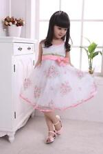 Mad 3 Layers Girls Dress Pink  Wedding Party Charming Rose Wave Pageant Modern