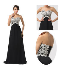 Strapless Bridesmaid Chiffon Ball Gown Evening Prom Party CocktailMaxi Dresses