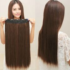 5 Colors Easy  Lady`s One piece long Straight five Clips hair extension clip-on