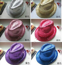 Fashion Design Kids Adult Glitter Sequins Hat Dance Show Party Jazz Hat