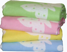 Soft 100% cotton BABY BLANKET, available in LIGHT BLUE, PINK, LIME GREEN, YELLOW