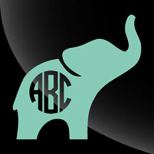 Elephant Monogram Decal Sticker - TONS OF OPTIONS
