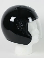 RKB - Black DOT Motorcycle Helmet Open Face with Flip Shield 3/4 Helmet