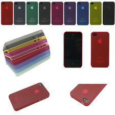 New 0.3mm Ultra Thin Slim Back Case Cover Skin For Apple iPhone 4 4S 4G 5 5S 5G