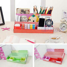 DIY Paper Board Storage Box Stationery Makeup Cosmetic Organizer Desk Decor New