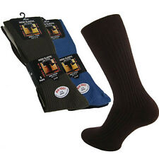 3/6 PAIRS BIG FOOT SIZES 11 TO 14 MENS 100% COTTON SOCKS NON ELASTIC DIABETIC