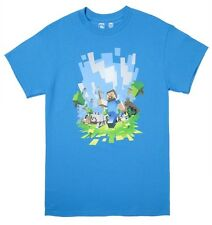 Minecraft Adventure Light Blue Youth's Official Licensed T-Shirt