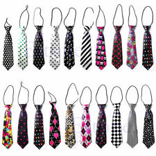 Fashion Girls Boys Elastic Tie 30 Styles Wedding Party Necktie Children Kids