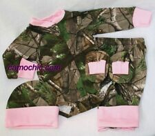 REALTREE & PINK CAMO 4PC BABY INFANT SNAP UP DIAPER SHIRT GIFT SET - GIRL