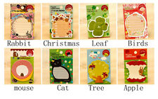 Cat Tree Apple sticker post-it bookmark point it marker memo flags sticky note A