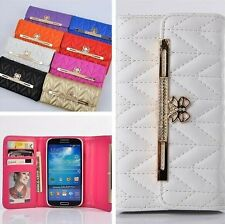 Flip Card Slot Handbag Wallet Purse Case Leather Cover For Samsung Galaxy S4