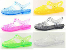 Ladies Spot on 90's retro jelly buckle sandals F0714