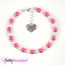 Cute Mother's Day Charm Bracelet For Mum Mummy From Son Daughter Mothers Present