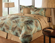 NEW! 8-Piece Full Queen or King Size Bed In A Bag Complete Palm Bedding Set