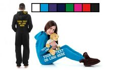 Childrens/Kids Custom Personalised Onesie Hooded Pocket Unisex All in One piece