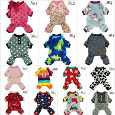 Fleece Winter Pajamas Collection Dog Clothes Pet Jumpsuit Coat Apparel XS S M L