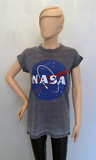 Ladies Official NASA SPACE CENTER Logo Burn Out T shirt from PRIMARK