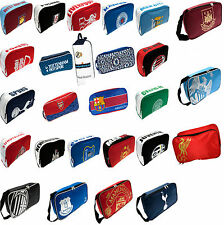 FOOTBALL CLUB BOOT BAG KIDS SCHOOL GYM PE KIT PUMP SHOE BOOTBAG BARCA RMFC MAN