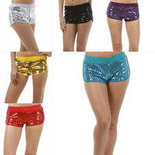 S M L Shorts Sequin Roller Derby Jersey Stretch Metallic Club Mini Sexy New