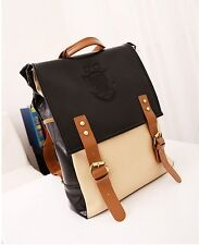 NEW Unisex Backpack Satchel Book Bags Casual School Bag Faux Leather B03A