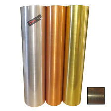 UBER-FILM ROLL OF BRUSHED STEEL STICKY BACK PLASTIC SELF ADHESIVE VINYL SHEETING