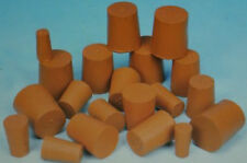 2 Packs of Red Solid Rubber Stopper Bungs Laboratory Various sizes