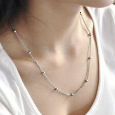 16in~30in  Women Lady Stainless Steel Beads Ball Chain Necklace  Christmas Gift