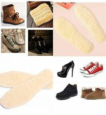 1Pair Women Men Warm Faux Wool Insole Thick Solid Color Plush Shoes Insoles NEW