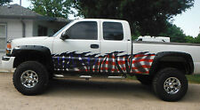 Car Truck Half Wrap American Flag Wave Vinyl Auto Graphics 5ft and up