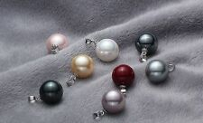 Southsea 12mm shell pearl pendant 925s chain(8different color can choose)jewelry