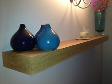 SOLID OAK FLOATING SHELF- 44MM- THICK MANTLE BEAM L@@K FREE CARRIAGE AND FIXINGS
