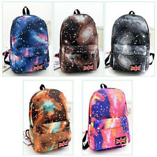 Unisex Galaxy Space Backpack Travel Rucksack Canvas Bag School Bookbag Satchel