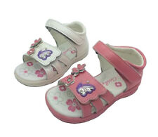 Girls Shoes Grosby Cleo Pink or white Leather Upper Sandal Size 4-12
