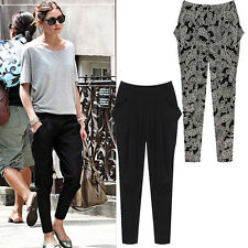Casual Women Large Size Baggy Slacks Pettiput Harem Sweat Pants Loose Trousers