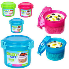 Sistema Klip It Accents Breakfast To Go Container Lunch Box Kids School Office
