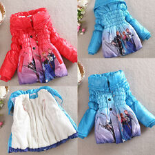 NEW Baby Girls Frozen Queen Elsa Anna Snowsuit Outwear Kids Lined Coat Jacket