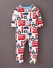 Mini Boden Baby Brand New Zip-up All-in-one Sleep Suit Romper London Print